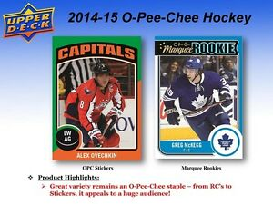 2014-15 Upper Deck O-Pee-Chee Hockey Trading Cards Box Kitchener / Waterloo Kitchener Area image 4
