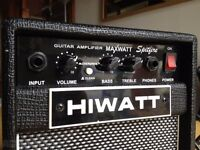 QUICKSELL- SPITFIRE HIWATT AMPLIFIER WITH OVERDRIVE, AND AMP LEAD