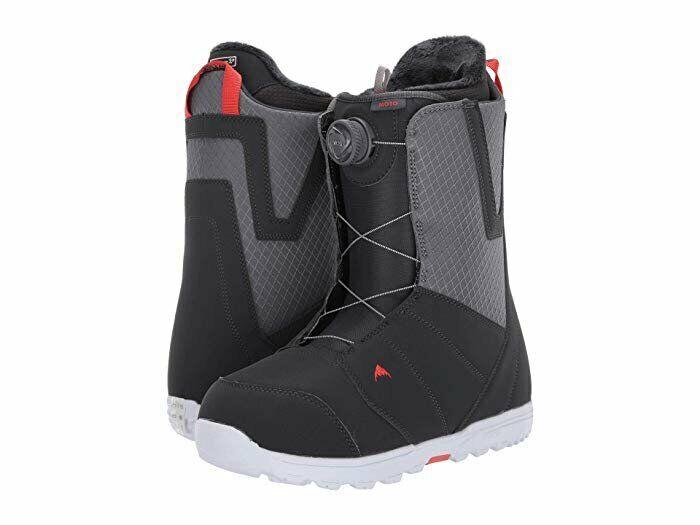 Men's 2020 Burton Moto Boa Snowboard Boots Gray/Red - 9