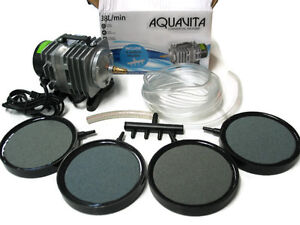 500-Gal-Commercial-Aquarium-Air-Pump-Air-Stones-20ft-Tubing-Combo