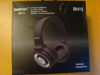 BRAND NEW! Betron BN15 Bluetooth Headphones, Wireless, 10m Range, Built in Microphone