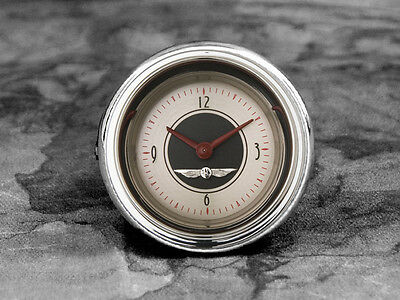 52-53 Ford Car Billet Aluminum Clock Insert w/Classic Instrument American Nickel