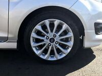 Brand new fiesta zetec s alloy wheels with brand new continental tyres