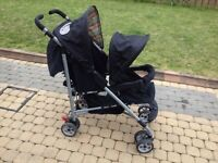 Double buggy umbrella fold - Mothercare Twin Hoxton