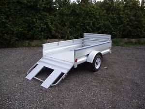 Galvanized Utility Trailers by Miska - In Stock No