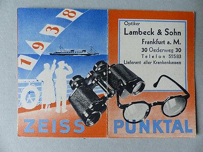Taschenkalender Frankfurt 1938 Zeiss Werbung Selten