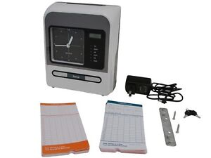 Employee Attendance Time Recorder Clock Payroll Wall Desktop w/FREE Thermal Card
