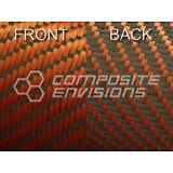 "Reversible Carbon Fiber/ Orange Kevlar Fabric 3x1 Twill 50"" 3k"