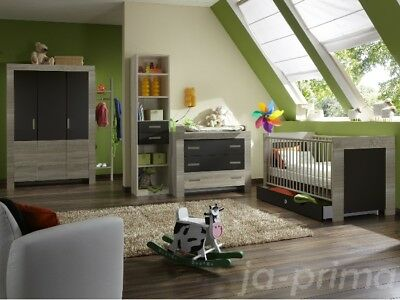 Babyzimmer Emily Lava 6 teilig komplett Baby Set Bett Wickelkommode Schrank 0473 - Emily Baby Möbel