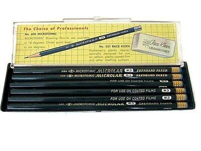Vtg Eberhard Faber M3 Microtomic Microlar Drafting Pencils for coated Mylar NOS