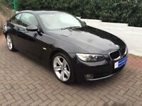 Black BMW 320i Coupe with Red Leather Interior 12 months MOT and 3 new tyres