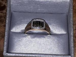 Dad Ring  10K  with  diamonds