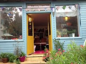 Unique Garden Shed Studio for Artists & Creatives to work from £11 per day!