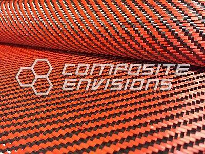 Carbon Fiber Orange Dyed Fiberglass Fabric 2x2 Twill 50 3k 12.53oz425gsm