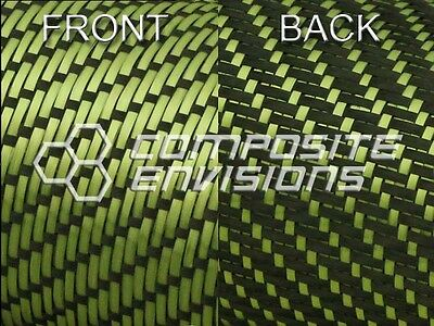 Reversible Carbon Fiber Made With Kevlar Yellow Fabric 3x1 Twill 50 3k