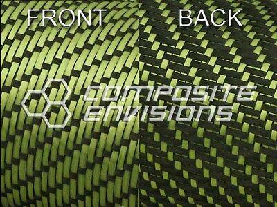 Reversible Carbon Fiber/ Yellow Kevlar Cloth Fabric 3x1 Twill 50