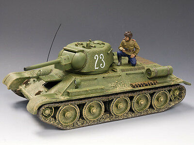 KING & COUNTRY FALL OF BERLIN RA025-01 RUSSIAN T34/76 #23 TANK SET MIB