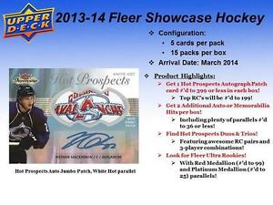 2013-14 Upper Deck Fleer Showcase Hockey Cards Hobby Box Kitchener / Waterloo Kitchener Area image 2