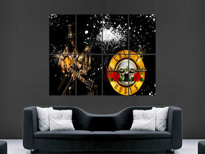 SLASH MUSIC LEGEND GUNS AND ROSES WALL POSTER ART PICTURE PRINT LARGE HUGE