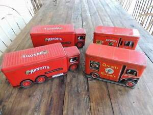 4 x Arnotts Collectable Biscuit Vintage Tins, truck Varsity Lakes Gold Coast South Preview