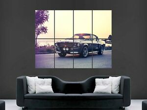 FORD SHALBY MUSTANG CAR  GIANT WALL POSTER ART PICTURE PRINT