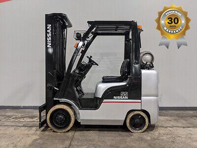 2014 Nissan Cf55 5500lb Cushion Lpg Forklift Lift Truck Hi Lo 87187