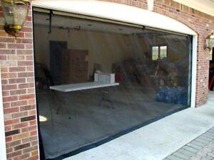 Bug/Fresh air screen for garage door