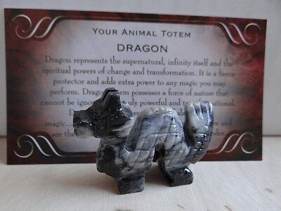 *DRAGON #2* Carved Stone Figurine Totem Wiccan Pagan Familiar Metaphysical