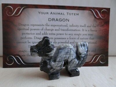 *DRAGON #2* Carved Stone Figurine Totem Buy 3 Get 1 FREE Wiccan Pagan Familiar
