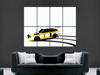 AUDI S1 1985 RALLY CAR ART WALL LARGE IMAGE GIANT POSTER