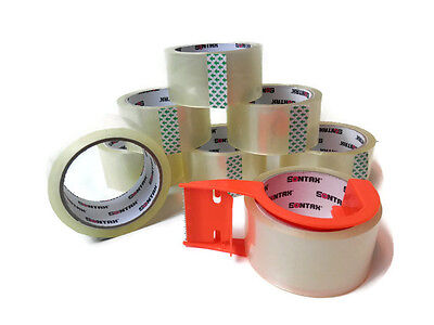 Sontax 8 Pack Quality 2.0 Mil Packaging Tape 2 With Dispenser 55 Yards Shipping