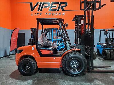 2021 Viper Rtd35 8000lb Pneumatic Rough Terrain Forklift Diesel Lift Truck Hi Lo