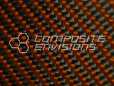 Carbon Fiber Panel Made With Kevlar Orange .1223.1mm 2x2 Twill-epoxy-12x24