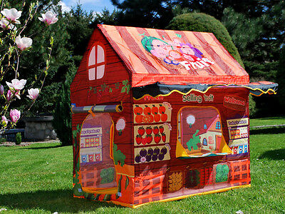 Tent to play house SHOP + fruit greengrocer gift present for children large  for sale  Shipping to Ireland