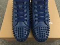 Christian Louboutin blue trainers high tops men's