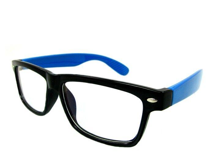 Brille Kurzsichtig RAY Putztuch Farbe Blau Stärke Fernbrille Modern Etui Dioptri