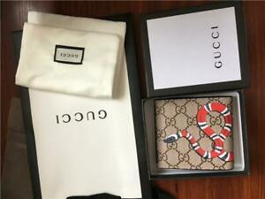100% Brand New Authentic Gucci Men Snake GG supreme Wallet