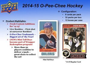 2014-15 Upper Deck O-Pee-Chee Hockey Trading Cards Box Kitchener / Waterloo Kitchener Area image 2