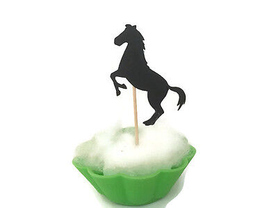 Horse cake toppers,horse theme party,black horse cupcake picks,NEIGH,riding - Horse Themed Cakes