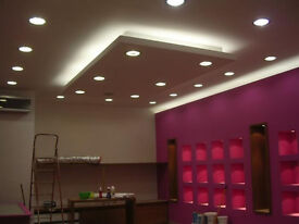 painting , instalation on the ceiling , painted with led lighting