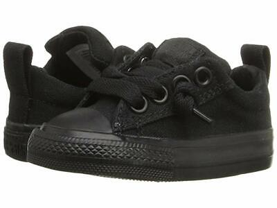 Converse Kids Chuck Taylor All Star  Street Ox (Infant/Toddler) ALL BLACK - Childrens Converses