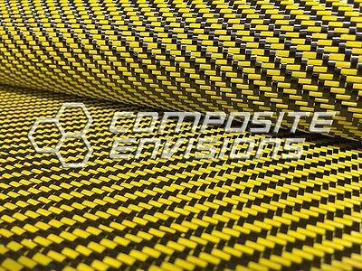 Carbon Fiber Yellow Dyed Fiberglass Fabric 2x2 Twill 50 3k 12.53oz425gsm