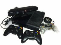 Xbox 360 (500GB) plus 3 controllers, Kinect & 16 games