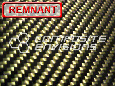 Carbon Fiber Made With Kevlar Yellow Panel .056 2x2 Twill 12x24 Remnant