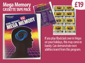 Audio Tapes (to improve memory skills) Cassette form, also is a potential future collector's item