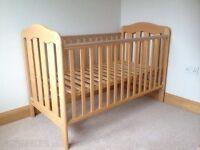 Mamas & Papas Cot Bed + FREE Mothercare mattress