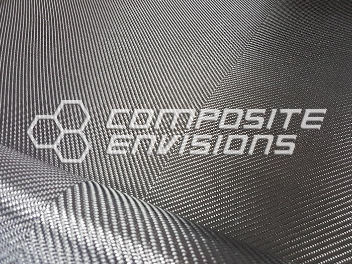 """Carbon Fiber Fabric 2x2 V-Twill 3k 203.43gsm/6oz  50"""""""