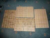4 X WOODEN SLATES PLACE MATS FOR YOUR TABLE
