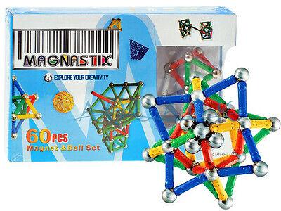 Magnetset Magnetbaukasten 60 tlg  Magnetspielzeug Kinder Magnet Baukasten NEU