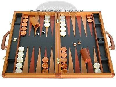 Zaza & Sacci Leather Backgammon Set - Large 23